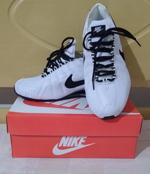 Tenis Nike Shox Junior Branco E Preto Nº41 Original Na Caixa