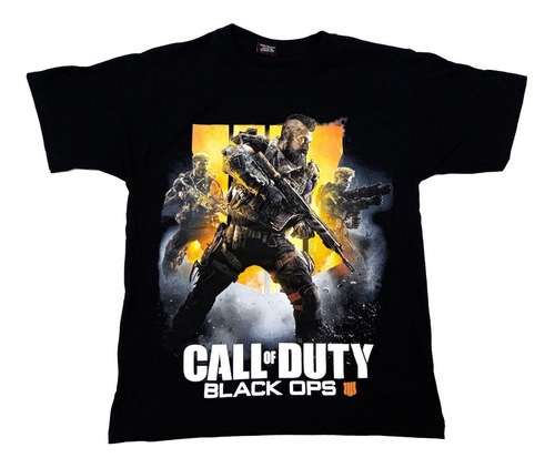 Camisetas Estampadas Niño Videojuegos Call Of Duty Black Ops