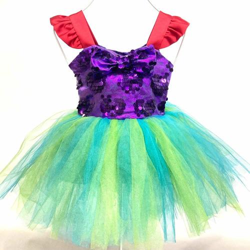 Imagen 1 de 3 de Vestido Ariel Sirenita Talla 2