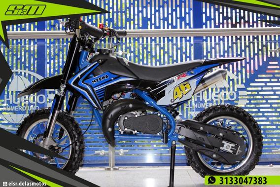 Moto A Gasolina Para Niños 50cc Higpher 2 Tiempos