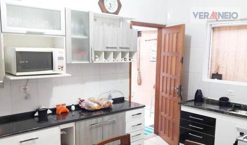 Casa Com 3 Dormitórios À Venda Por R$ 400.000,00 - Tupi - Praia Grande/sp - Ca0474