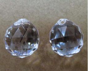 100 Bolas Esferas Facetada Cristal Acrílico 18 Mm Bijuterias