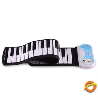 Teclado Musical Enrollable Organo Parlante Flexible Silicona