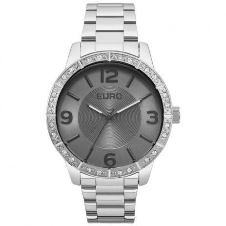Relógio Feminino Euro Metal Glam Eu2036ylp/3k Prata