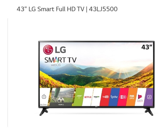 Smart Tv Led 43 Lg Full Hd 43lj5500 2 Hdmi