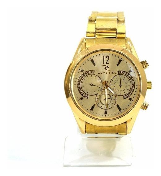 Relógio Analógico Dourado