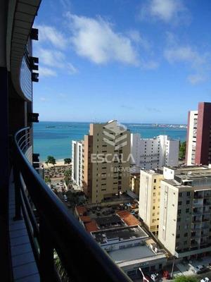 Flat Com 2 Quartos À Venda, 59 M², Mobiliado, Vista Mar - Meireles - Fortaleza/ce - Fl0046