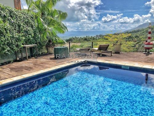 Casa Em Ilhabela Com Vista Para O Mar - A 100 Metros Praia. - Ca0594 - 69373368