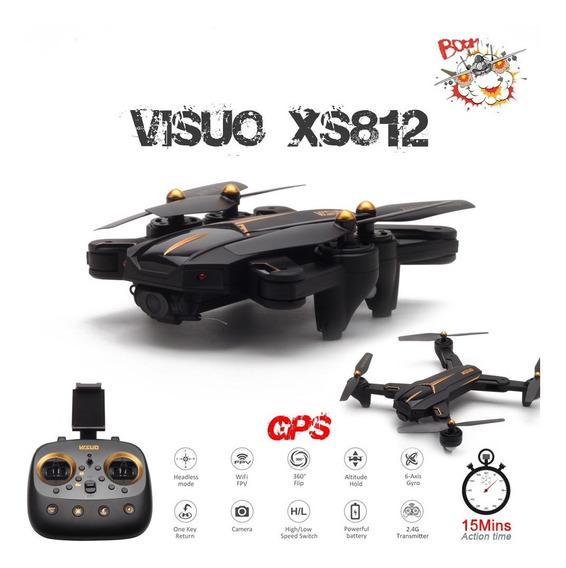Drone Visuo Xs812 Gps Câmera 2mp 720p Com Duas Baterias