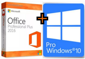 Windows 10 Pro + Office 2016 Pro Plus 32/64 Bits Original