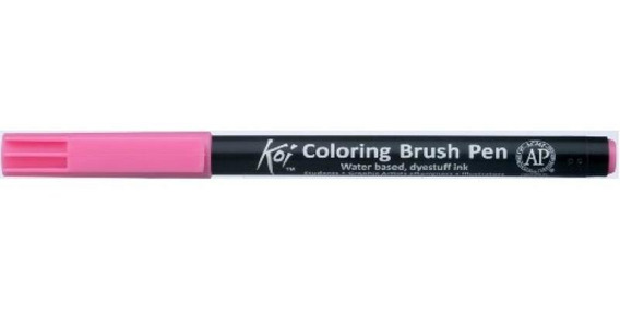 Caneta Pincel Koi Coloring Brush Pen Rosa Xbr20-pb Miwa