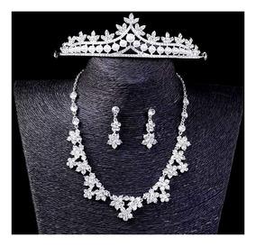Coroa Noiva Colar Dama Acessórios Veu Debutantes Princesa