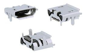 Kit Com 03 Conectores Carga Micro Usb Positivo S420 S455