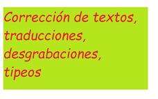 Corrección De Textos, Traducciones, Desgrabaciones, Tipeos