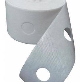 Entretela Para Costura C/ Furo 10cm (28mm) - Branca