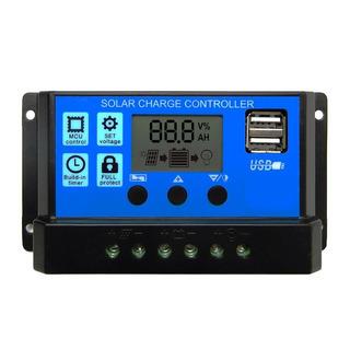 Controlador De Carga Solar 30a, 12 Y 24v, Usb 5v, Lcd, Pwm