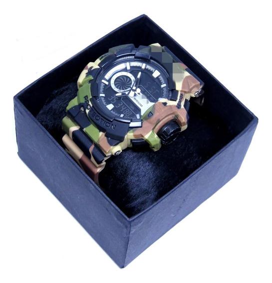 Relógio Grande Esportivo Militar Digital + Caixa Masculino