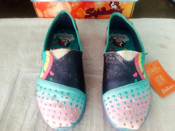 Zapatos Sifrinitas Color Azul Y Amarillo Nuevas Varias Talla