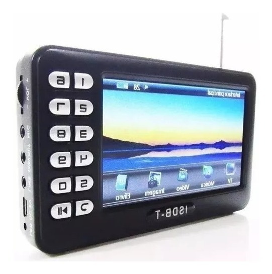 Mini Tv Digital Portatil Isdb-t Video Fm Microsd Pen Drive