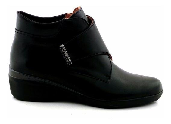 Botineta Mujer Bota Zapato Cavatini Cuero Confort Mczp05111