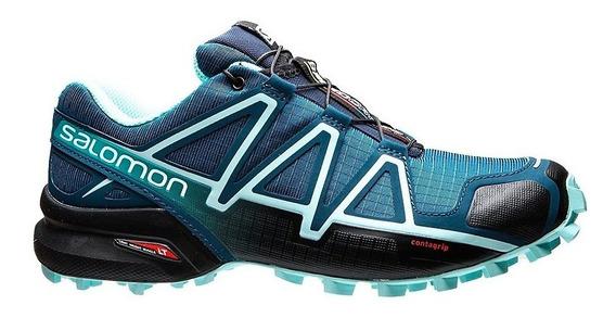 Zapatillas Salomon Speedcross 4 Azu De Mujer