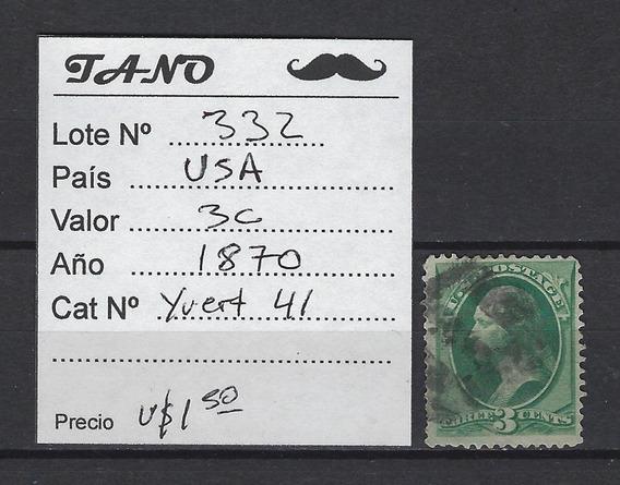 Lote332 Estados Unidos 3 Cents Año 1870 Yvert#41