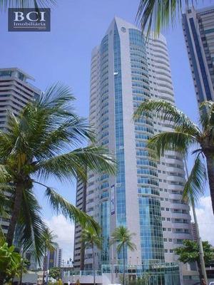 Flat Mobiliado Com 1 Dormitório À Venda, 40 M² Por R$ 460.000 - Boa Viagem - Recife/pe - Fl0021
