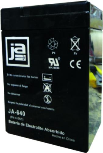 Bateria Para Luz De Emergencia 6v 4ah Marca Ja Mod. Ja-640