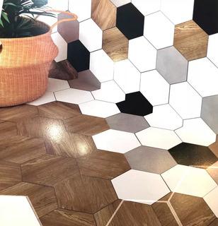 Porcelanato Hexágonal 17,5x20 Piso Pared Acuarela Por Caja