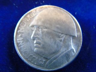 Réplica Moneda 20 Liras Italia Fascista Benito Mussolini
