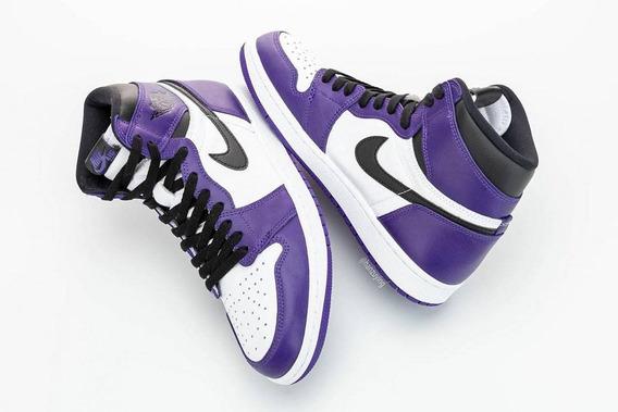 Nike Air Jordan 1 White Court Purple