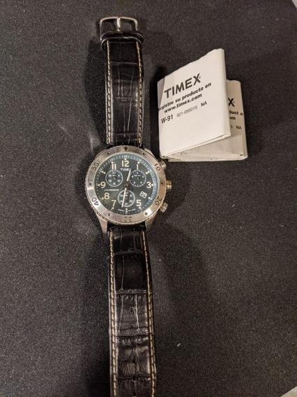 Relógio De Pulso Timex Modelo 1854 Pulseira De Couro