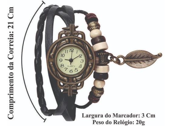 Relógios Feminino Pulseira Em Couro Retro Vintage Lindo