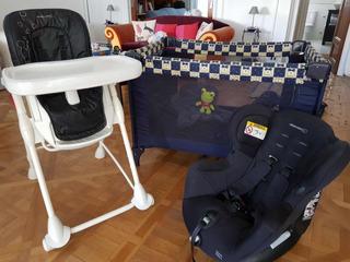 Combo Sillas + Corralito Para Bebes