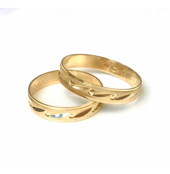 Anillos De Matrimonio Oro De 10k Argollas Alianzas
