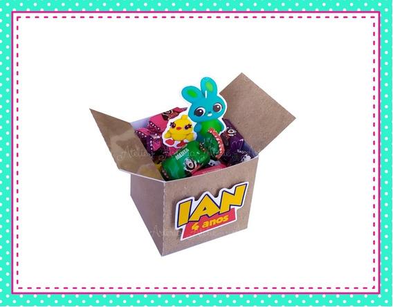 10 Caixa Cubo Tag Lembrancinha Personalizados Toy Story 4