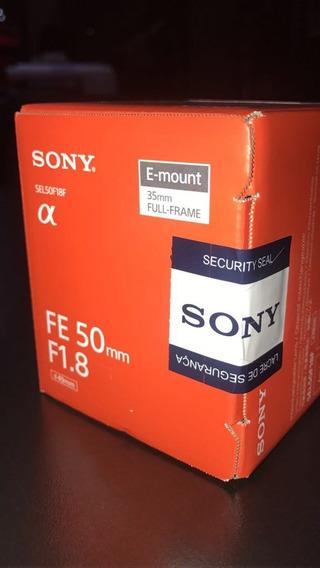 Lente Sony Sel-50f18 E 50mm F1.8