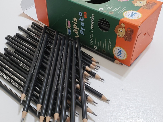 Lapis De Escrever Preto / Redondo/ Caixa Com 144 Unidades