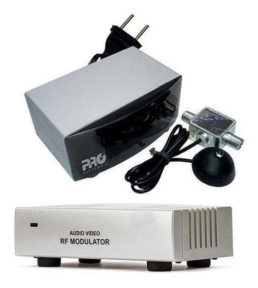 Kit Extensor Controle Remoto + Modulador Audio Ponto Escravo