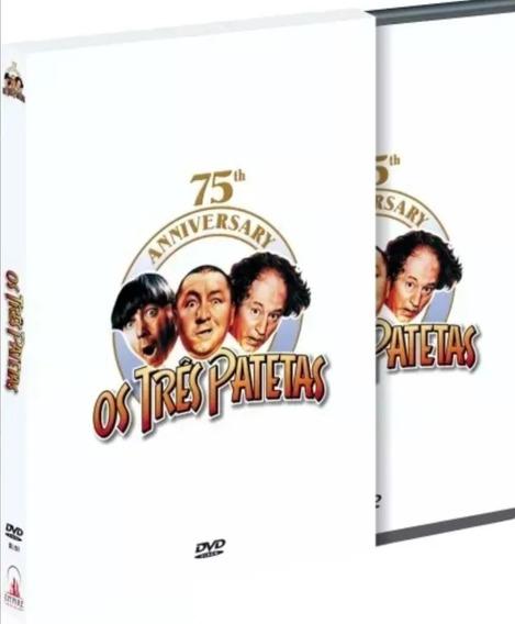 Os Três Patetas Edição De 75º Aniversário Box 4 Dvds Lacrado