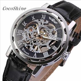 Relógio Mecânico De Luxo Winner Skeleton