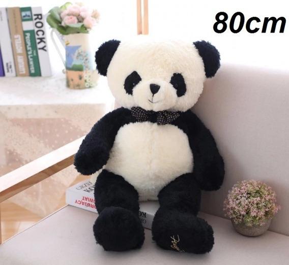 Pelúcia Urso Panda Grande 80cm Presente Aniversário Criança