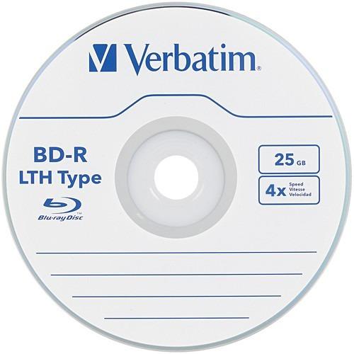 Verbatim 25gb Bd-r Lth Blu-ray Pack De 5 Unidades