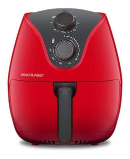 Fritadeira sem óleo Multilaser Air Fryer 4 L Gourmet vermelha 220V