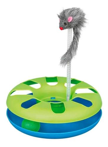 Juguete Interactivo Gato Circulo Caza Pelota Y Raton Trixie