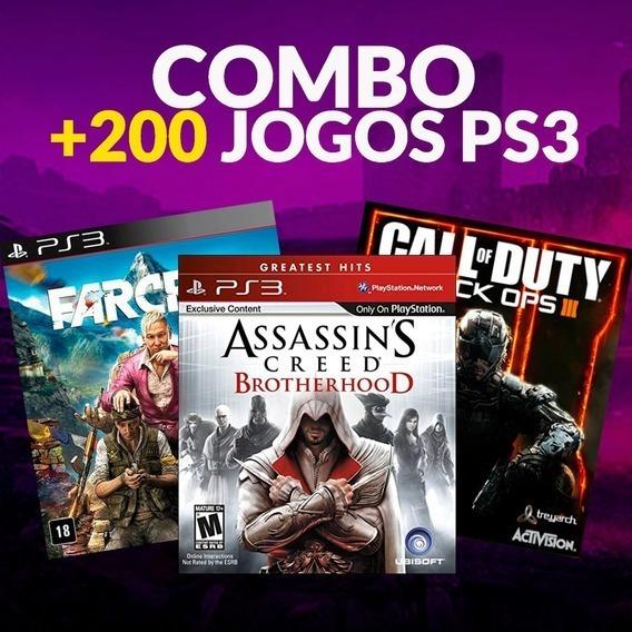 Promoção Quaretena Combo Ps3 + De 250 Jogos Em Mídia Digital