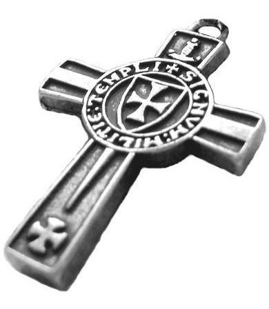 Pingente Com Colar Cruz Da Ordem Dos Cavaleiros Templários