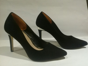 Zapatos Taco Alto, Negro Gamuza, Call It Spring (falabella)
