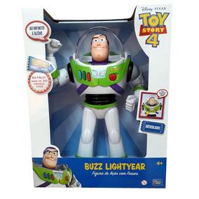 Boneco Buzz Lightyear Articulado C/ Som Toy Story 4 Ref35716