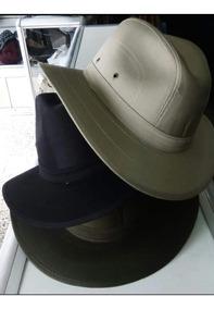 Sombrero Indiana En Dril Colores Café Verde Y Negro